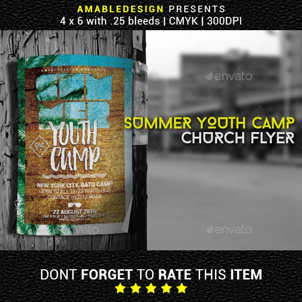 Summer Youth Camp Church Flyer/Poster