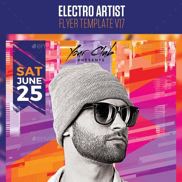 Electro House Artist Flyer v17