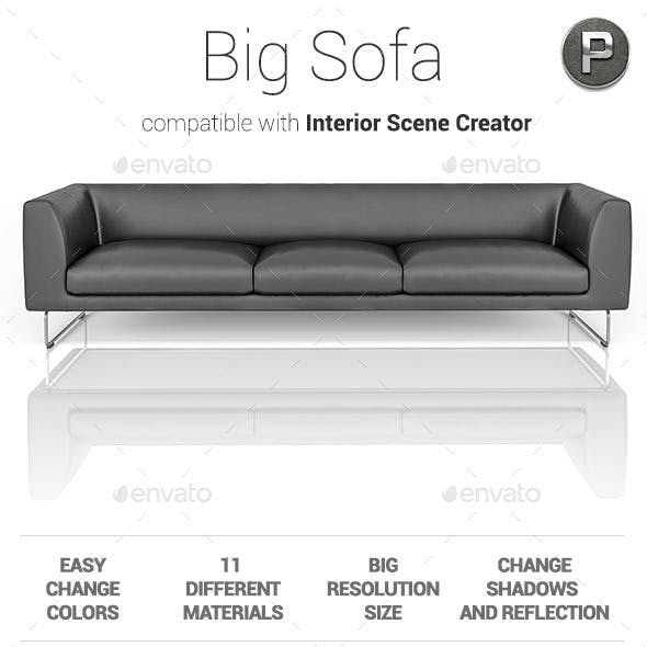 Big Sofa - Isolated 3D Render