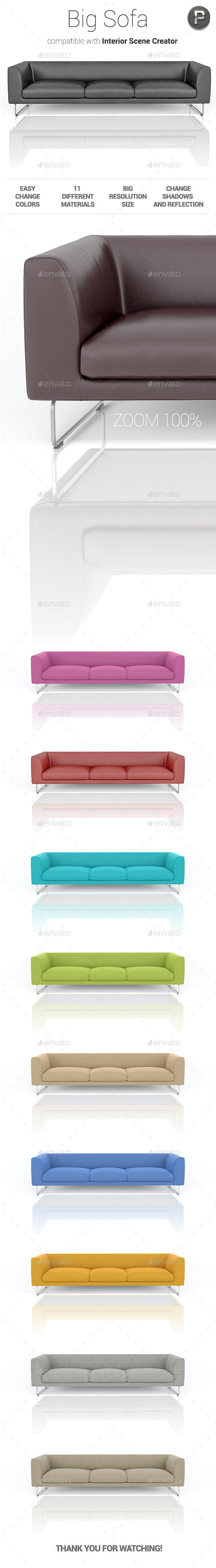 Big Sofa - Isolated 3D Render - Objects 3D Renders