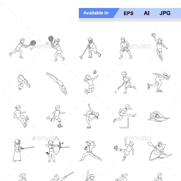 Sports I Outlines Vector Icons