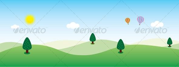 Another Green Landscape Background - Landscapes Nature