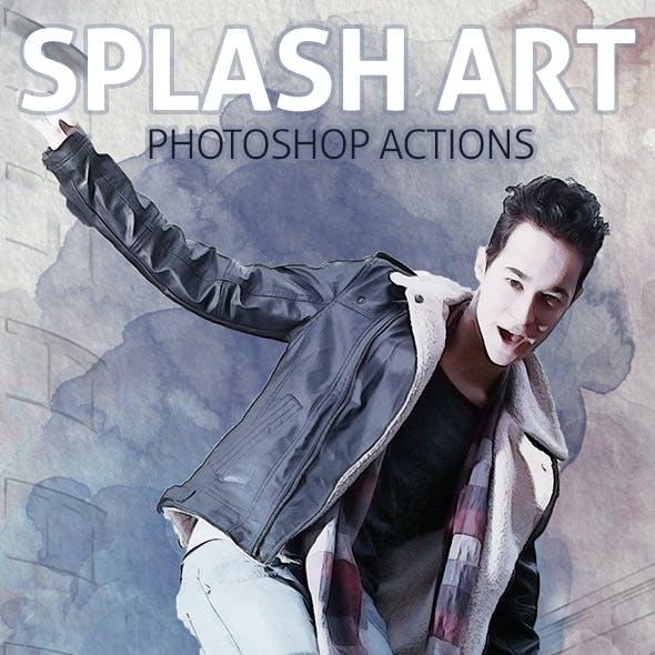 Splash Art - Photoshop Actions