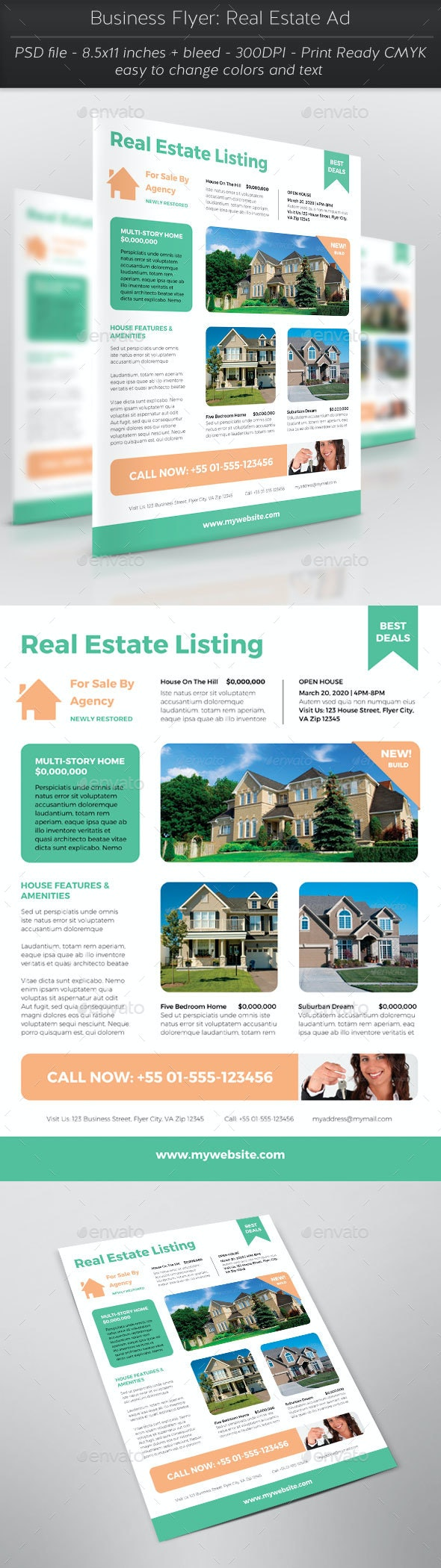 Business Flyer: Real Estate Ad - Flyers Print Templates