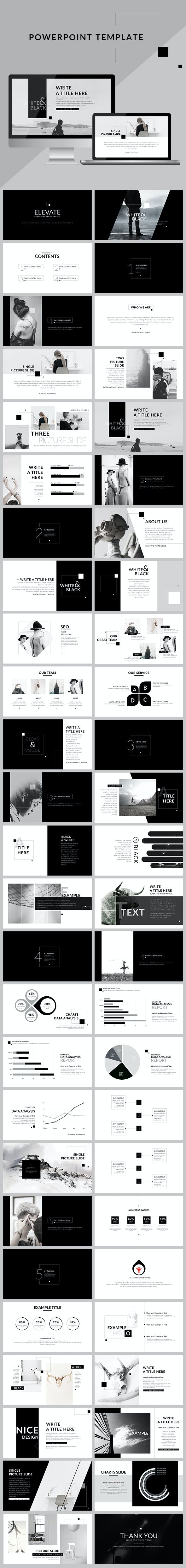 Black white creative clean powerpoint presentation creative powerpoint templates