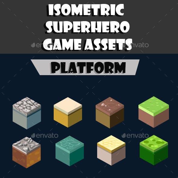Isometrics Superhero Game Assets