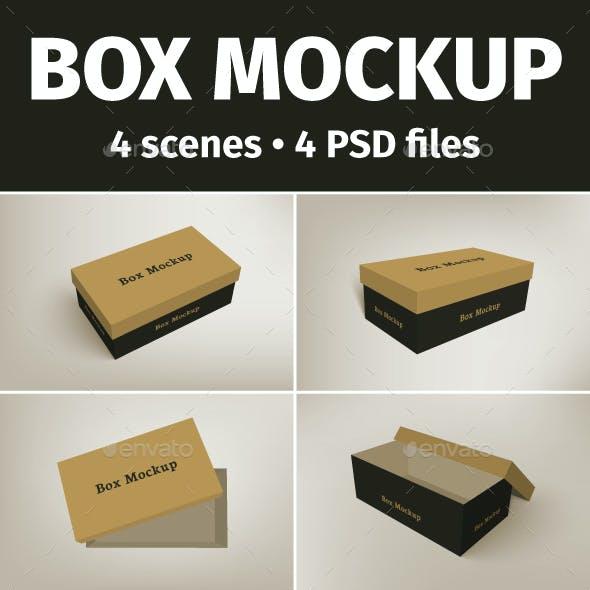 Shoes Packaging Box Mockup