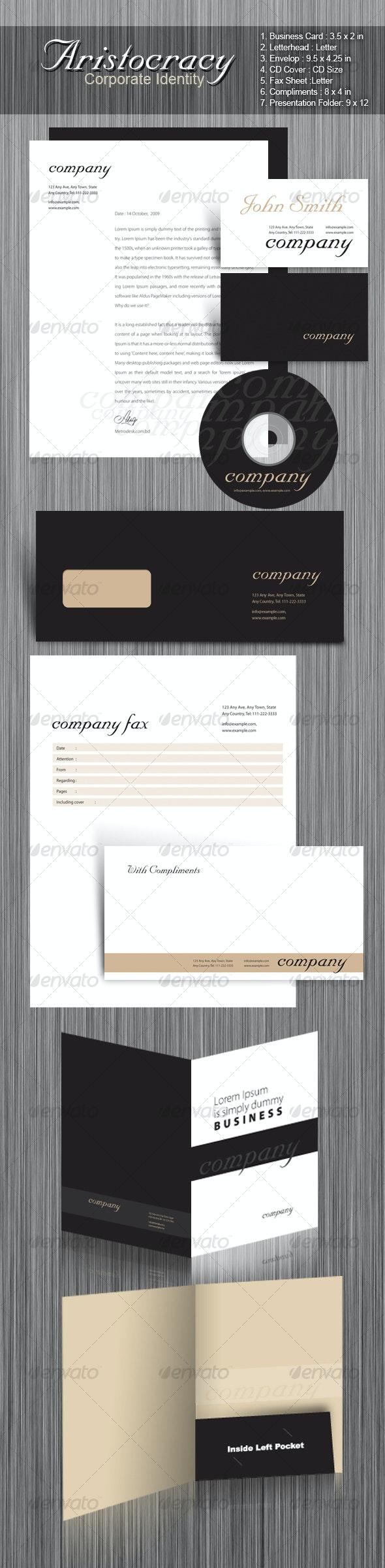 Aristocracy Corporate Identity - Stationery Print Templates