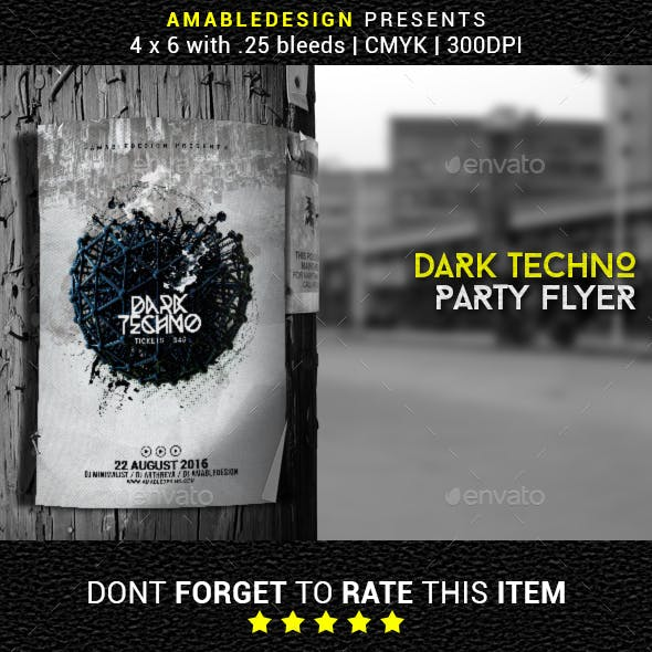 Dark Techno Flyer/Poster
