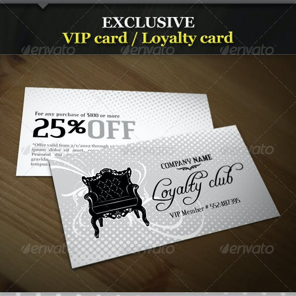 Exclusive VIP Card / Loyalty Card