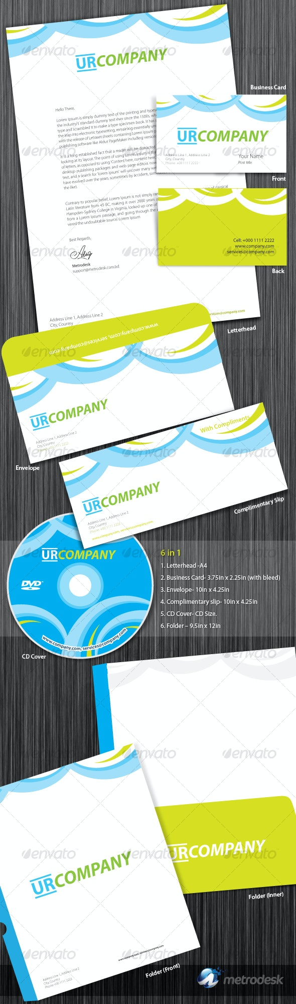 Colorful Corporate Identity  - Stationery Print Templates