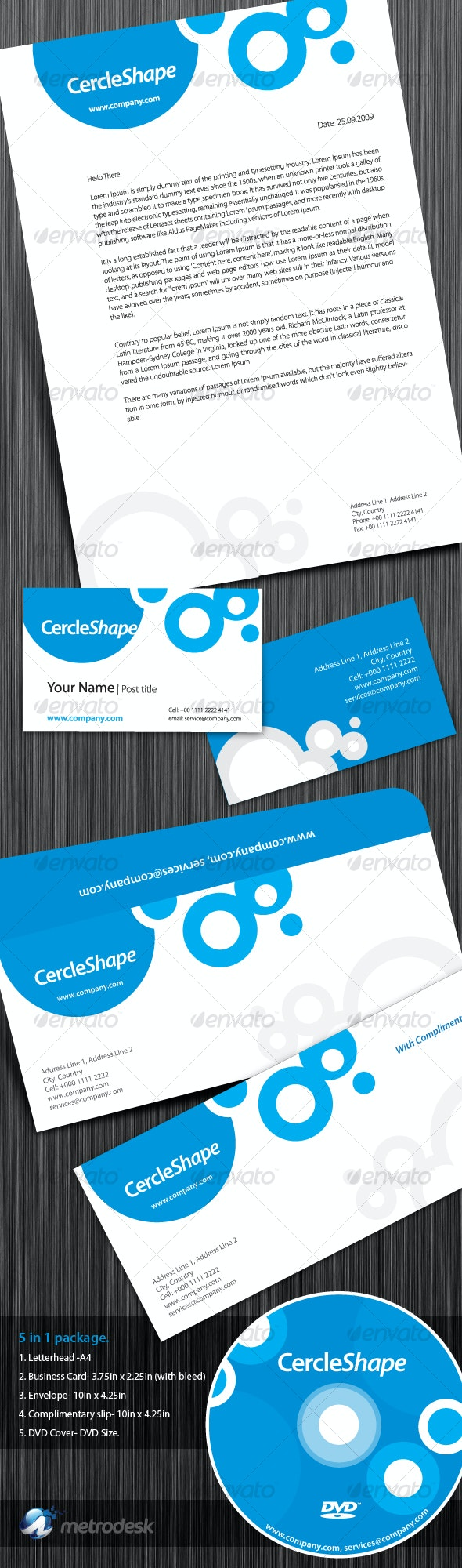 CercleShape Corporate Identity - Stationery Print Templates