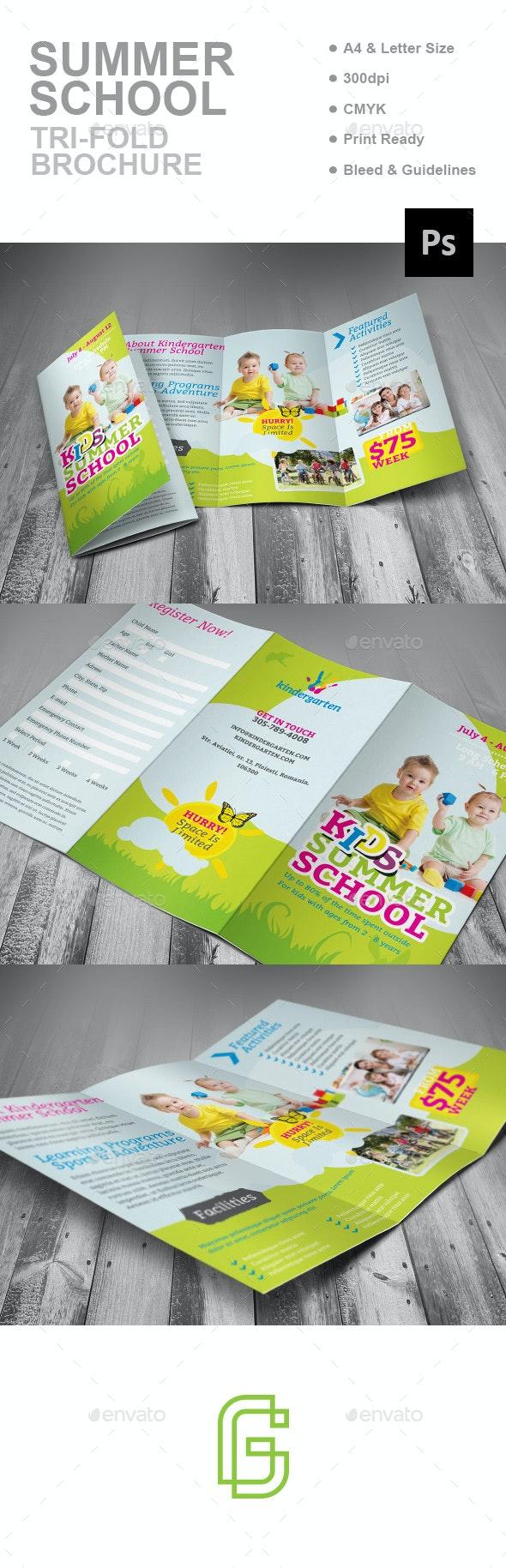 Summer School Trifold Brochure - Corporate Brochures