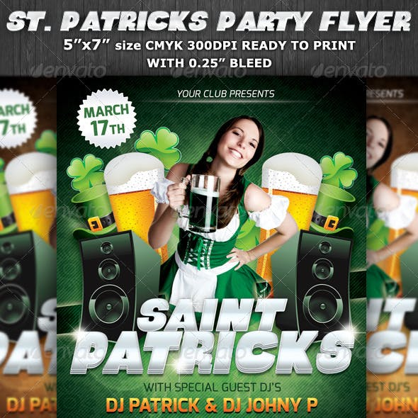St.Patrick's Club-Party Flyer Template V5