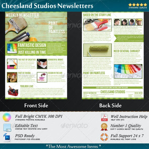 Cheesland Studios Newsletters