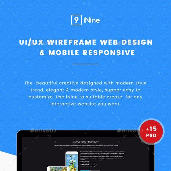 UI/UX Wireframe Web Design & Mobile Responsive