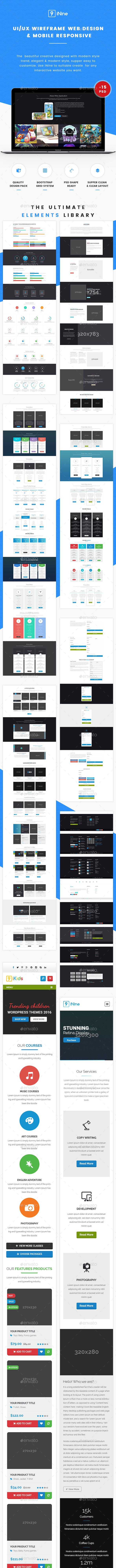 UI/UX Wireframe Web Design & Mobile Responsive - User Interfaces Web Elements