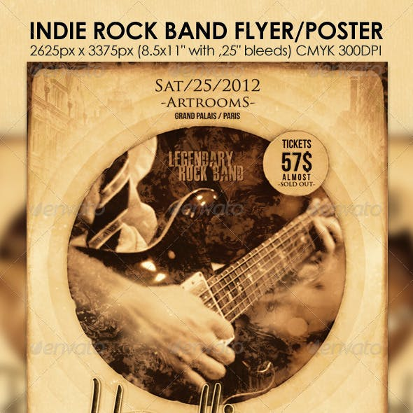 Indie Rock Band Flyer/Poster