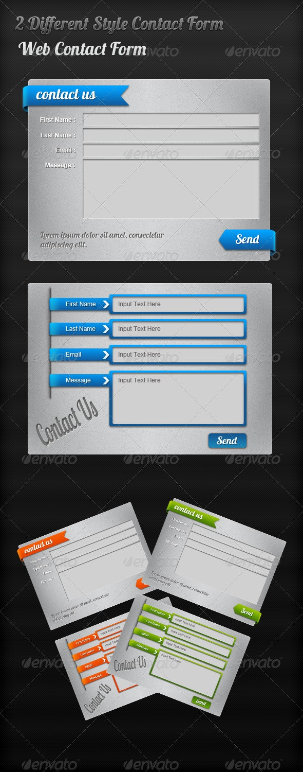 Web Contact Us form - Forms Web Elements