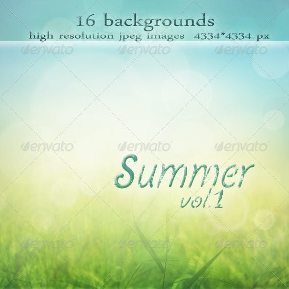 Summer Backgrounds with Bokeh Effect vol.1