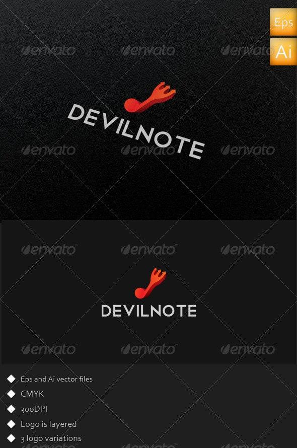 Devil Note - Logo Template - Symbols Logo Templates