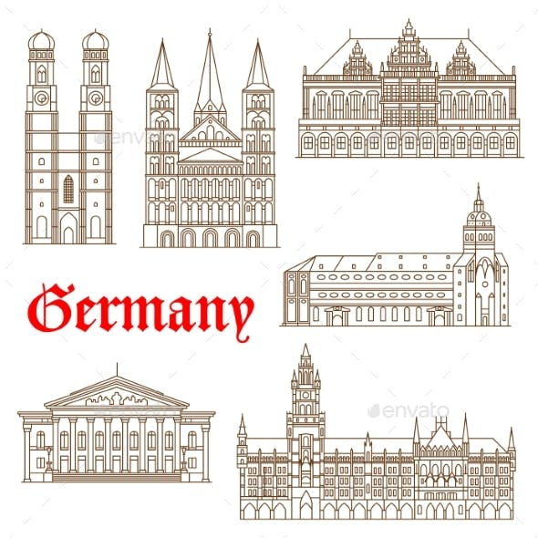 Famous Landmarks of German Architecture Icon