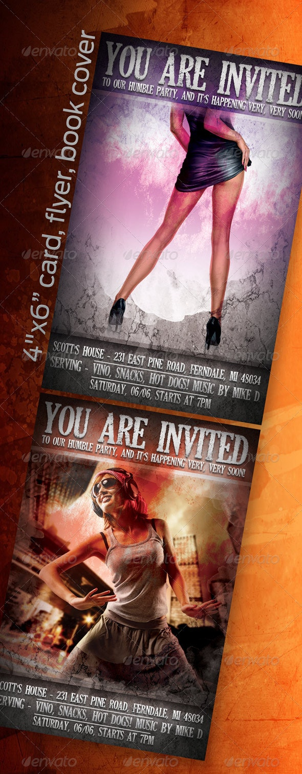 """4""""x6"""" Card, Flyer, Book Cover - Flyers Print Templates"""