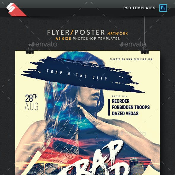 Trap Sound - Party Flyer / Poster Template A3