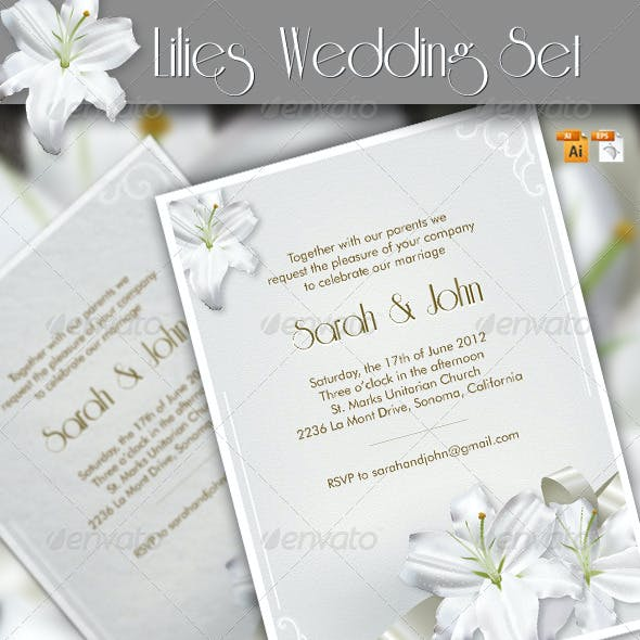 Lilies Wedding Set