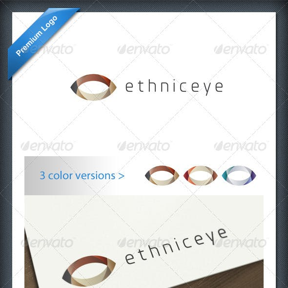 Abstract Ethnic Eye Logo Template