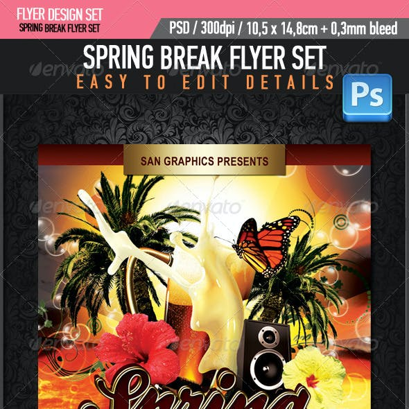 Spring Break Beer Flyer