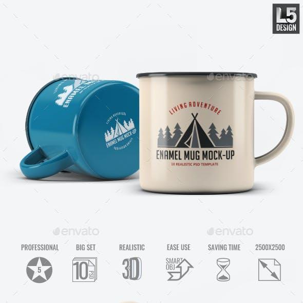 Enamel Mug Mock-Up