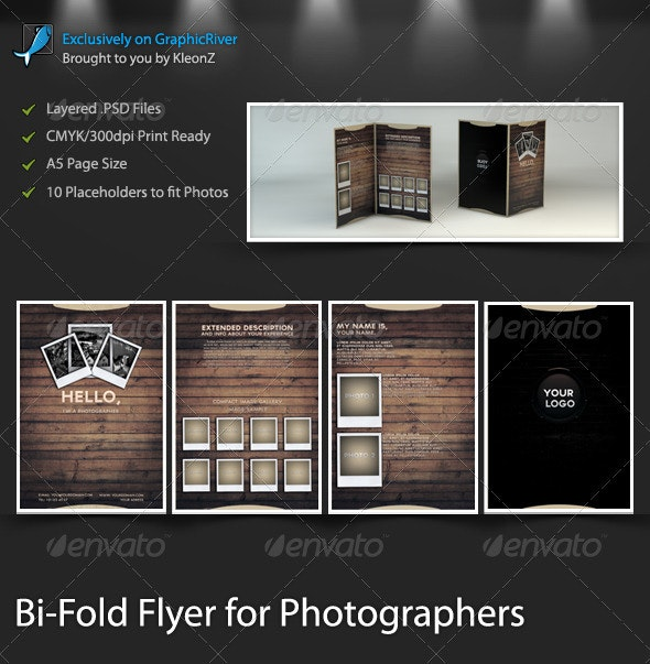 Bi-Fold Flyer for Photographers - Corporate Flyers