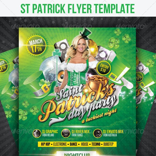St Patricks Flyer Template
