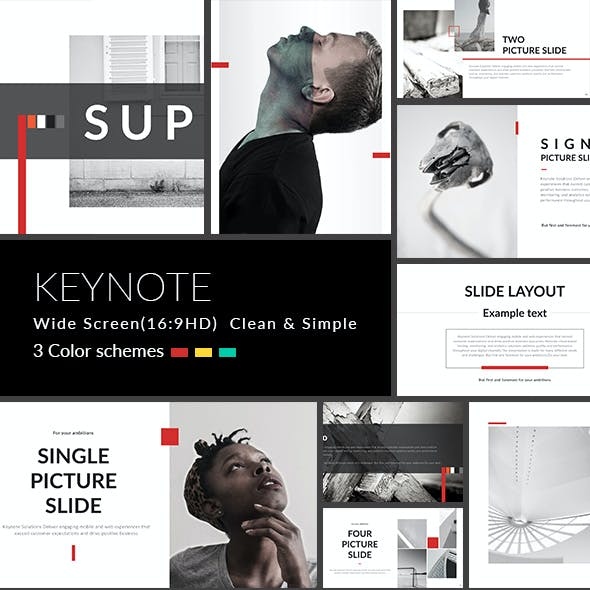 Super - Clean & Simple Keynote Template