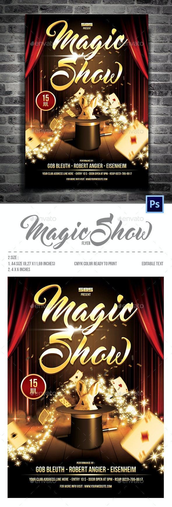 Magic Show Flyer - Flyers Print Templates