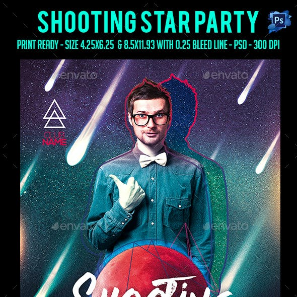 Shooting Star Party Flyer
