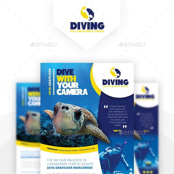Ocean Diving Flyer Templates