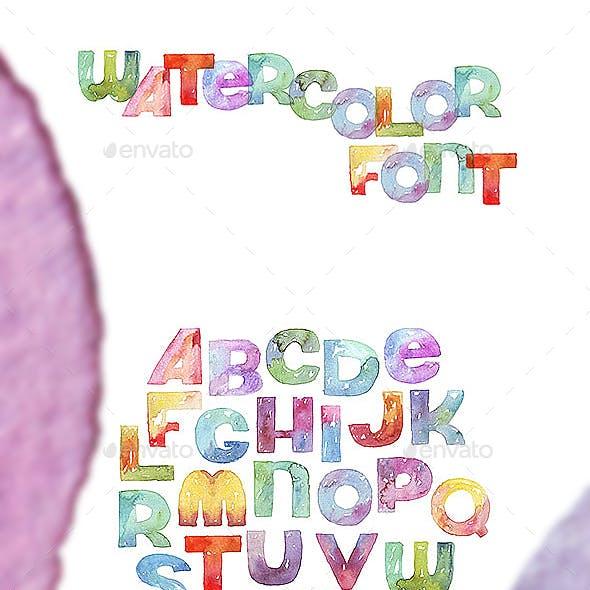 Watercolor Gradient Font