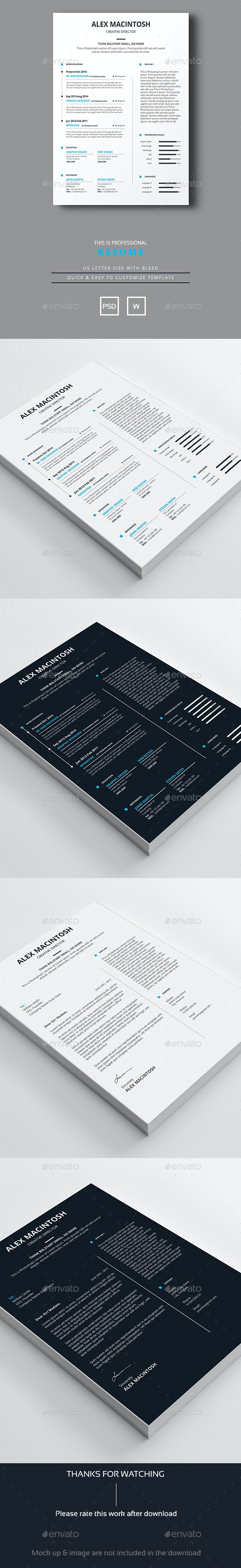 Professional Resume template - Resumes Stationery