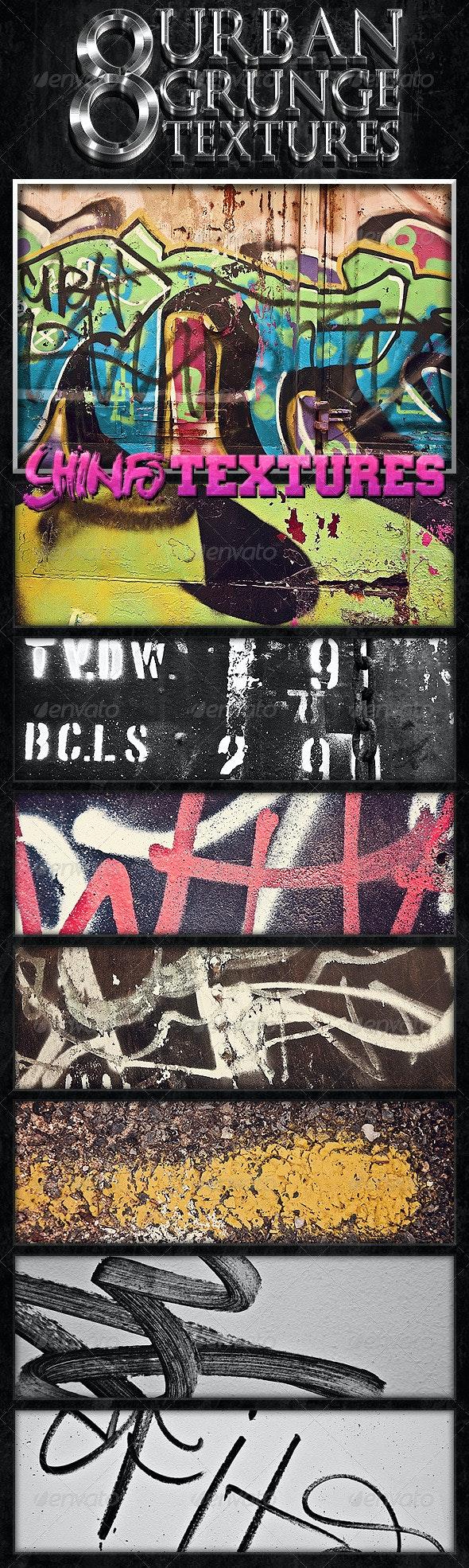 8 Urban Grunge Textures - Abstract Textures