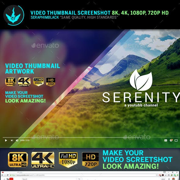 Serenity Video Thumbnail Screenshot Template