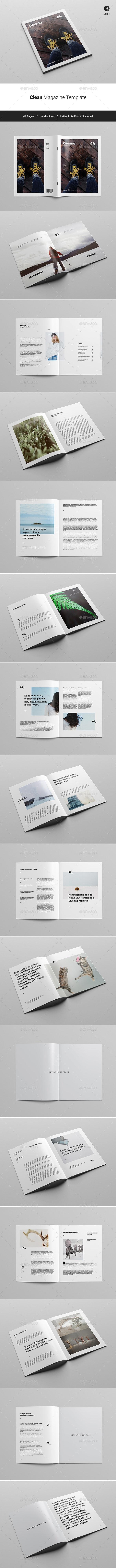 Clean Magazine Template - Magazines Print Templates