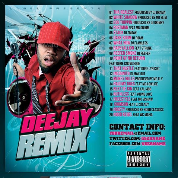 Mixtape CD Cover Template | Deejay Remix