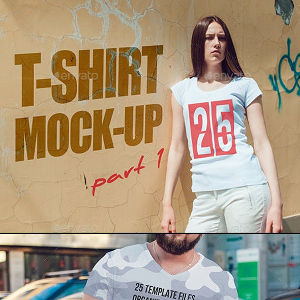 25 T-Shirt Mock-up (Part 1)