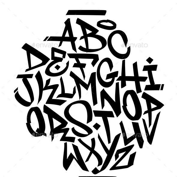 Handwritten Graffiti Font Alphabet