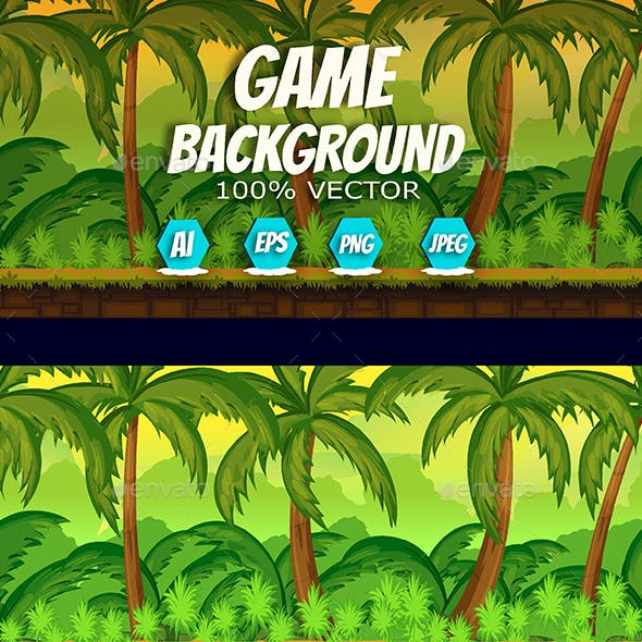 Tropical Game Background