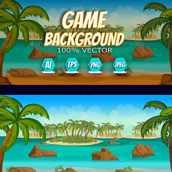 Tropical Islands 2d Game Background