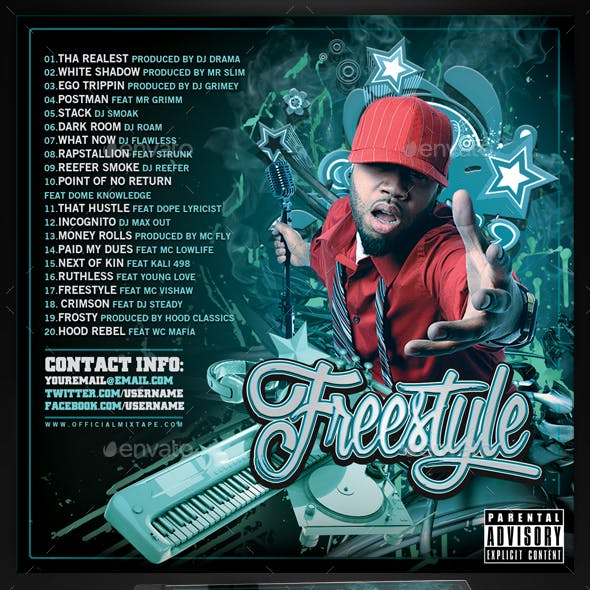 Mixtape CD Cover Template | Freestyle