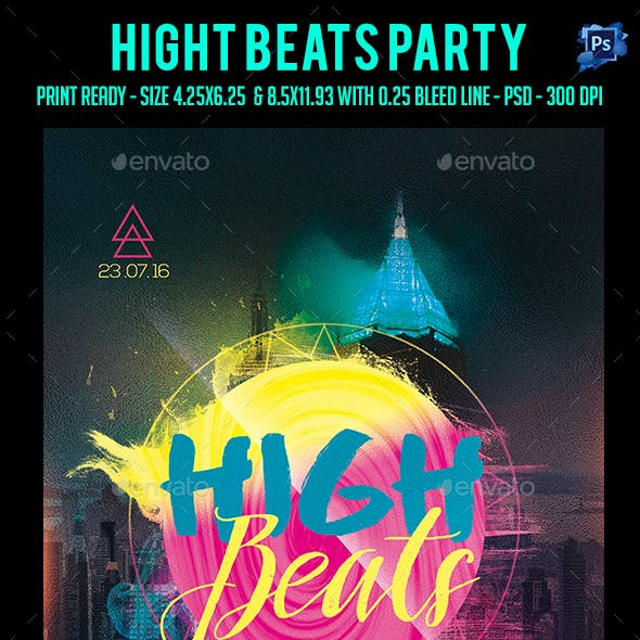 High Beats Party Flyer
